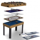 Riley 4ft 21-in-1 Multi Games Table M21B-1S
