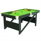 Riley 6ft Folding Lay Flat Snooker  Pool Table RS6AG
