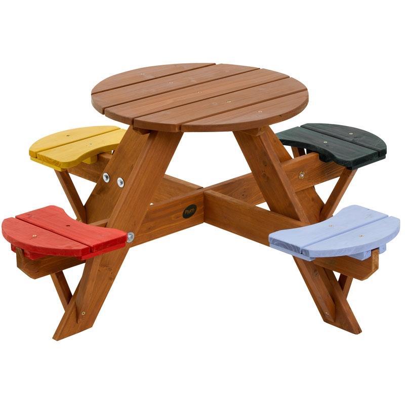 plum childrens round picnic table plum round picnic. Black Bedroom Furniture Sets. Home Design Ideas