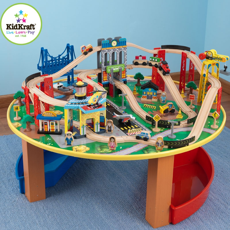 Kidkraft city explorers train set and table all round fun for Table kidkraft