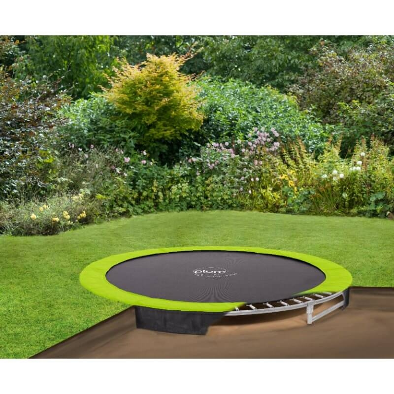 Plum 10ft Circular In-Ground Trampoline and Enclosure