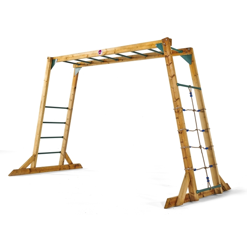 Plum Wooden Monkey Bars Climbing Frame
