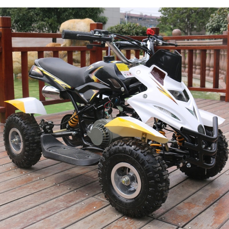 50cc dirt ninja mini off road petrol quad bike  yellow