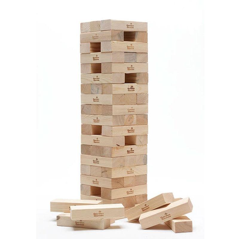 Garden Games Giant Tower Block Tumble Game, All Round Fun