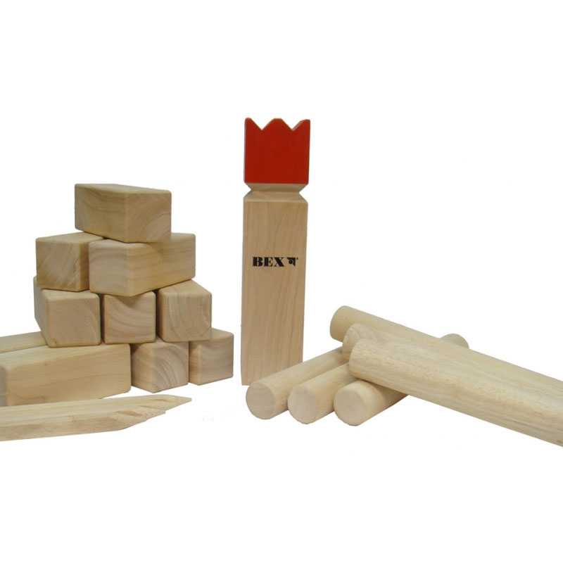 bex kubb original (red king) outdoor garden game