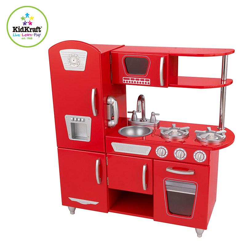 Kidkraft Red Vintage Kitchen 53173: KidKraft Red Vintage Kitchen, All Round Fun