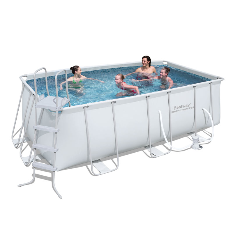 bestway 13.5ft rectangular frame pool set (7,893l)