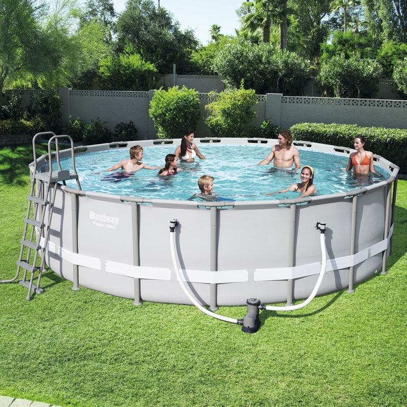 Bestway 18ft Power Steel Frame Pool Set | Bestway 18ft Pool | All ...