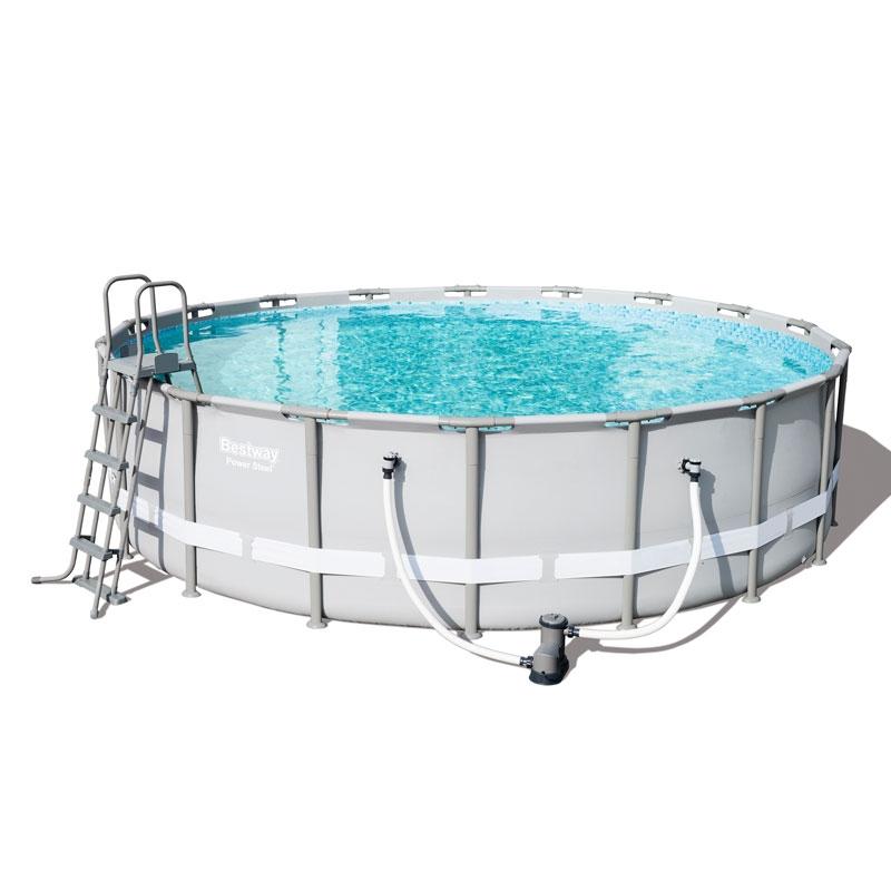 Bestway 18ft power steel frame pool set bestway 18ft - Bestway power steel frame pool ...