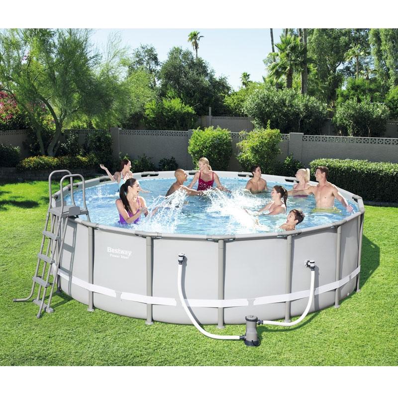 Bestway 16ft Power Steel Frame Pool Set   Bestway 16ft Pool   All ...
