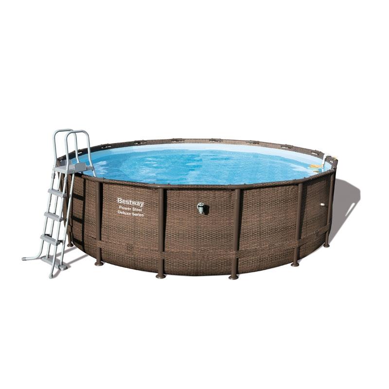 Bestway 16ft x 48in power steel deluxe frame pool set all - Bestway power steel frame pool ...