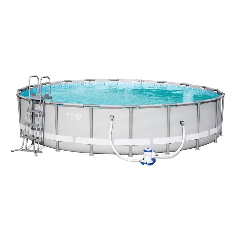 Bestway 20ft power steel pool set bestway 20ft pool - Bestway power steel frame pool ...