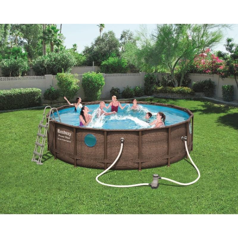 Bestway 16ft x 48in Power Steel Swim Vista Series Pool Set
