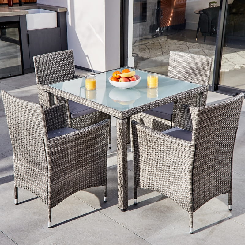 ABLO 4 Seater Rattan Dining Set