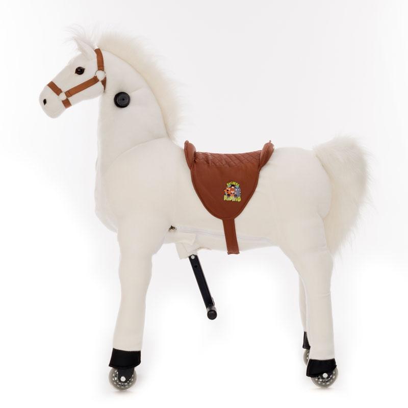 Image of Animal Riding Horse White Medium
