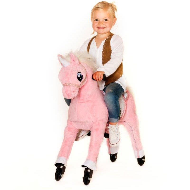 Image of Animal Riding Unicorn Pink Medium