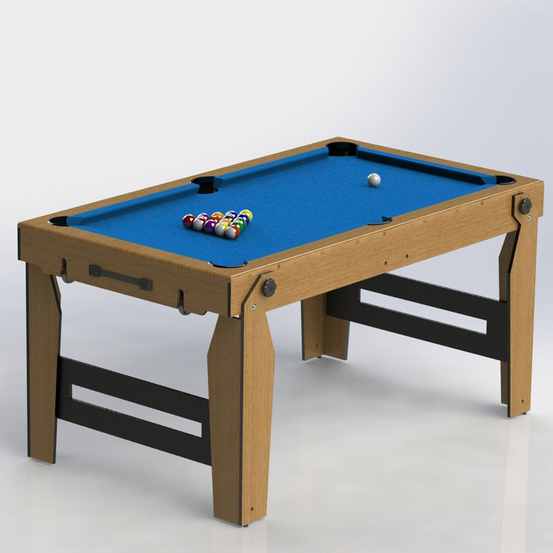 BCE 5ft Rolling Lay Flat Pool Table
