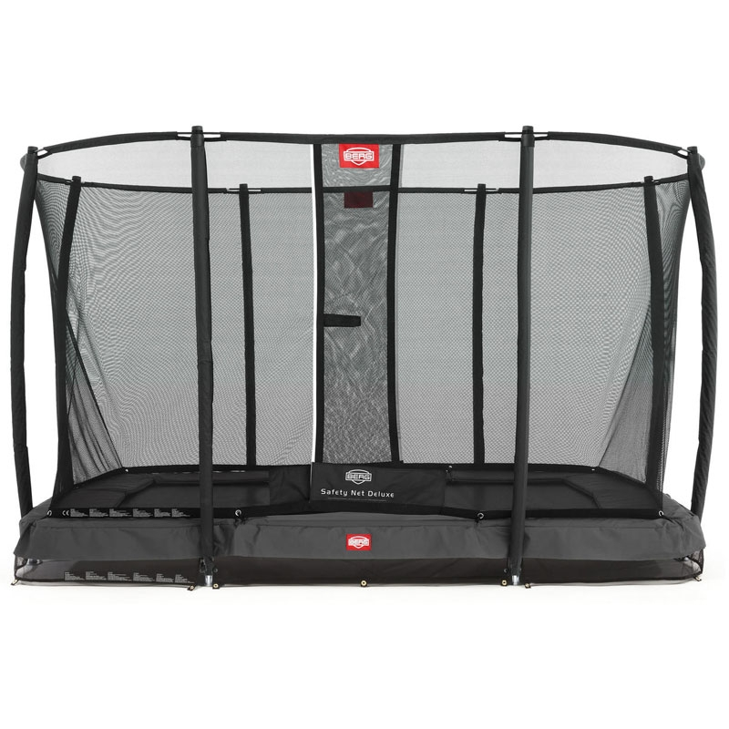 BERG EazyFit 11ft X 7ft Grey In-Ground Trampoline + Safety