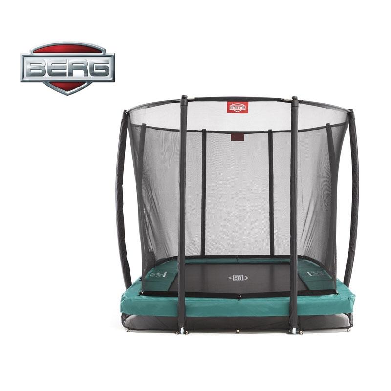 BERG EazyFit 11ft X 7ft In-Ground Trampoline + Safety Net