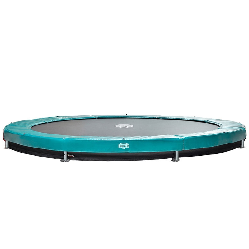 BERG Elite 11ft Green In-Ground Trampoline + Safety Net