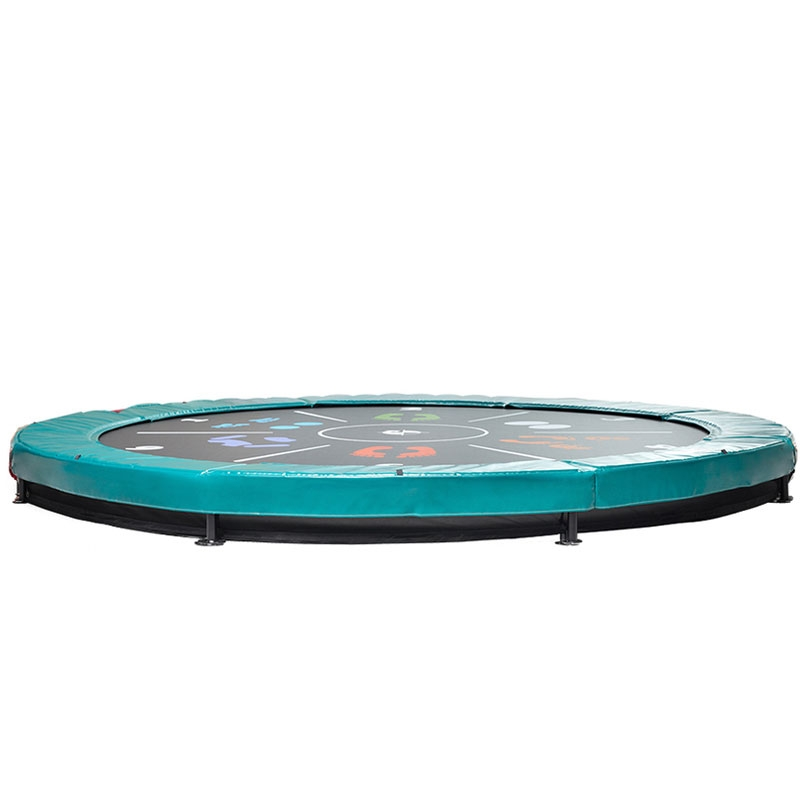 BERG Elite 14ft Green Tattoo In-Ground Trampoline + Safety