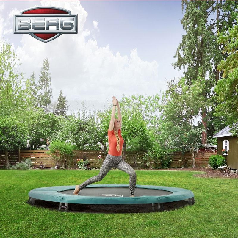 berg talent sport 8ft in ground trampoline all round fun. Black Bedroom Furniture Sets. Home Design Ideas