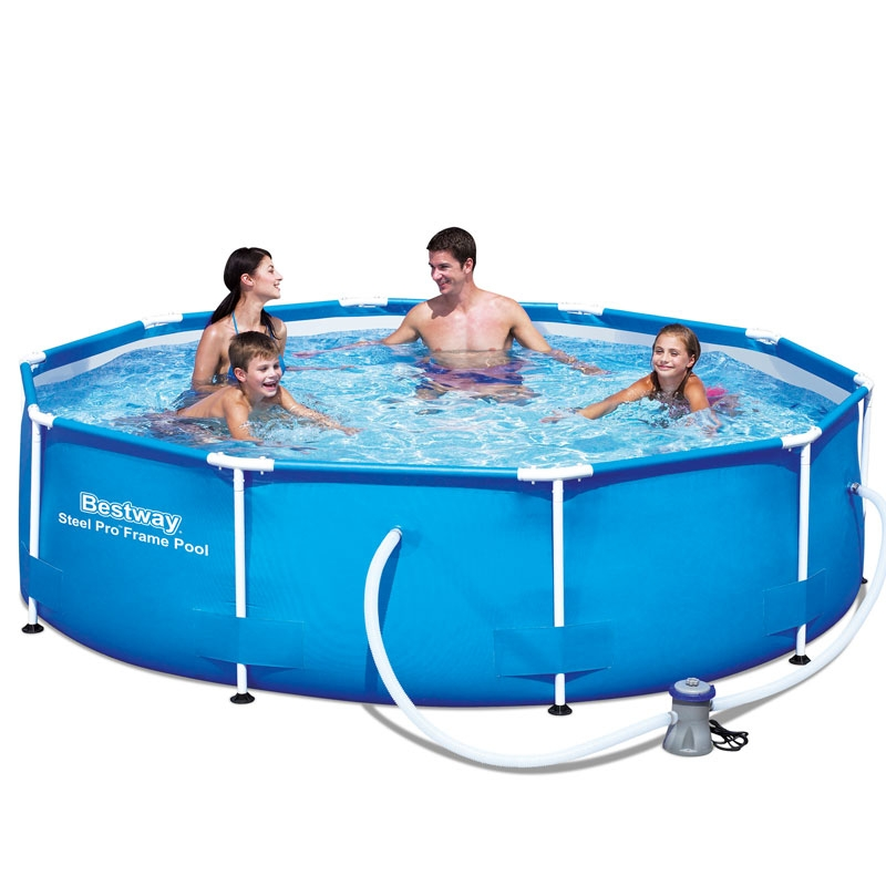 bestway 10ft steel pro frame pool set (4,678l)