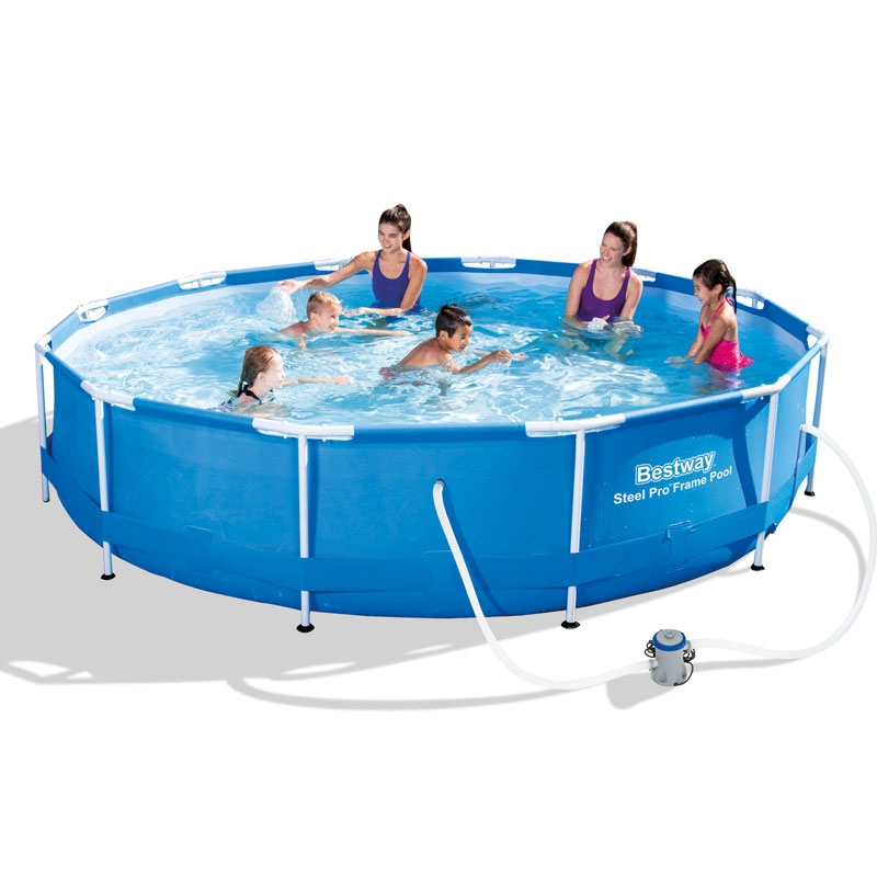 bestway 12ft steel pro frame pool set (6,473l)