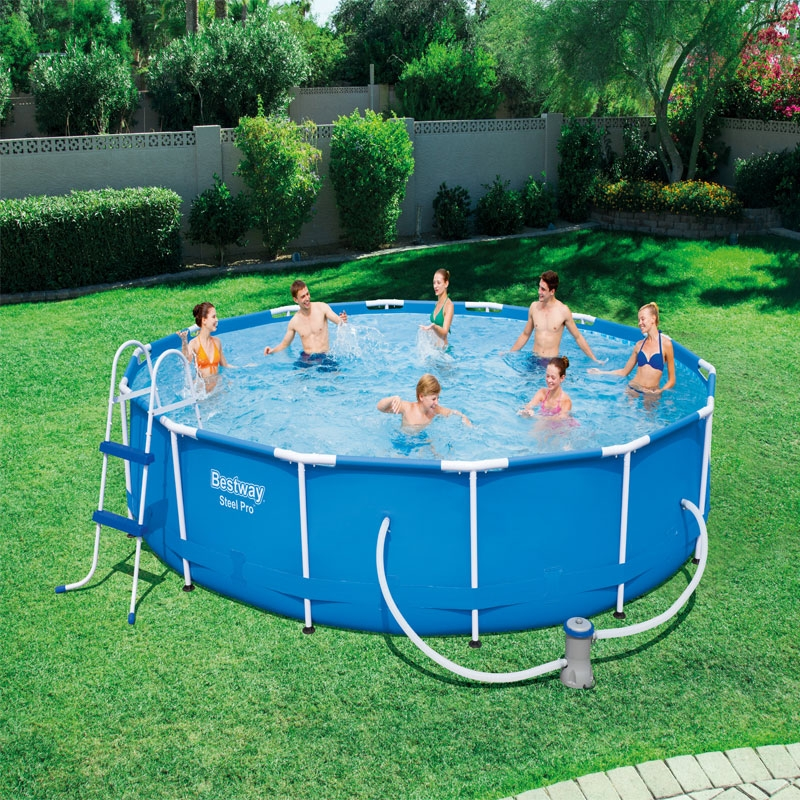 bestway 14ft steel pro frame pool set
