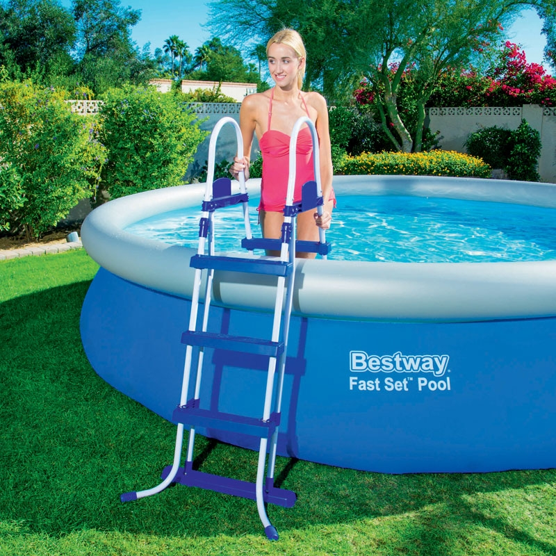 bestway 15ft fast set pool set inc filter pump 12 362l all round fun. Black Bedroom Furniture Sets. Home Design Ideas