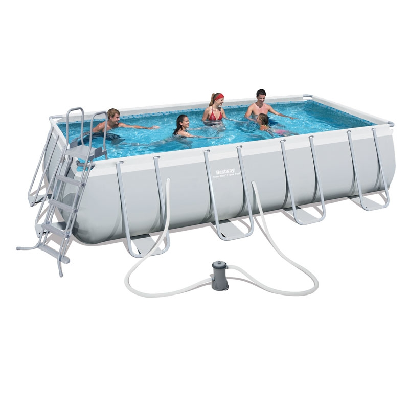 bestway 16ft power steel rectangular frame pool set (13,177l)
