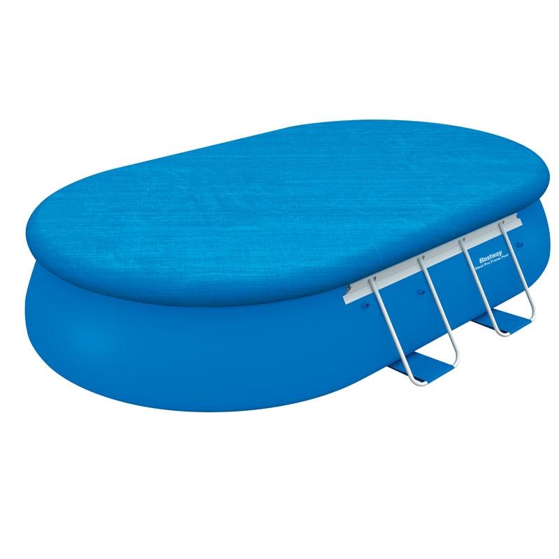 bestway 16ft steel pro oval frame pool set 10 759l all. Black Bedroom Furniture Sets. Home Design Ideas