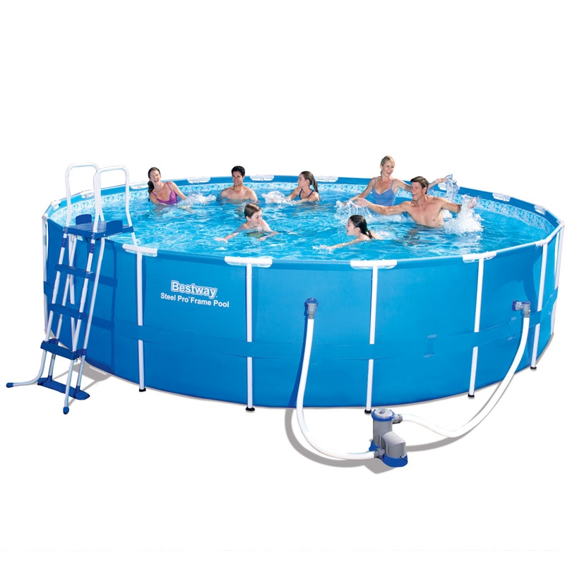 bestway 18ft steel pro frame pool set (23,062l)