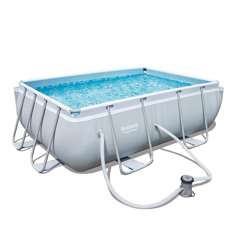 Bestway 9ft 3 power steel pool with filter pump bestway - Bestway power steel frame pool ...