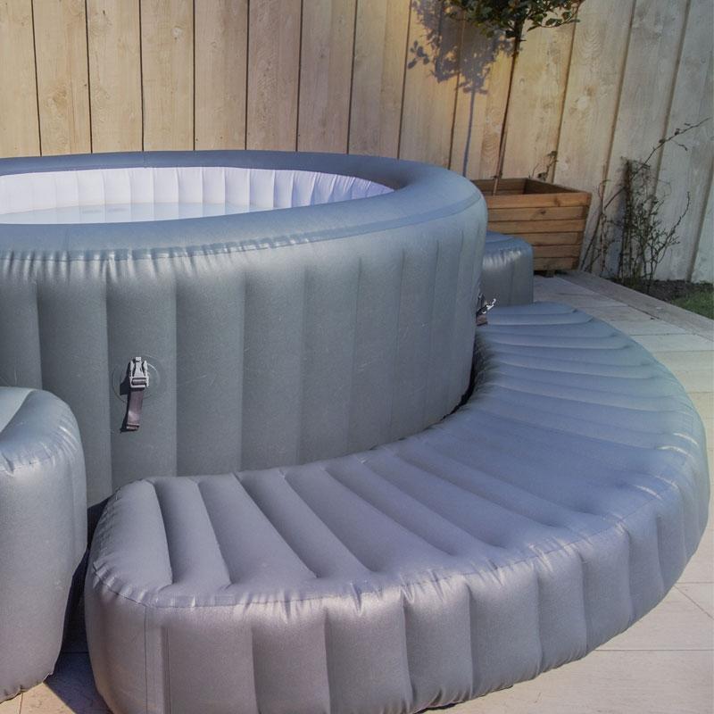 lay z spa step lazy spa steps all round fun. Black Bedroom Furniture Sets. Home Design Ideas