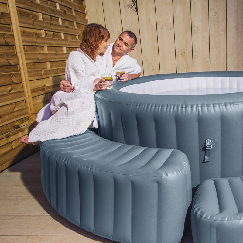 Lazy spa surround lay z spa surround all round fun for The range lazy spa