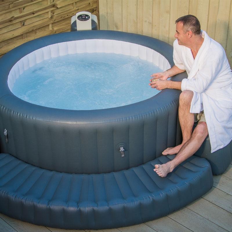 lazy spa surround lay z spa surround all round fun. Black Bedroom Furniture Sets. Home Design Ideas