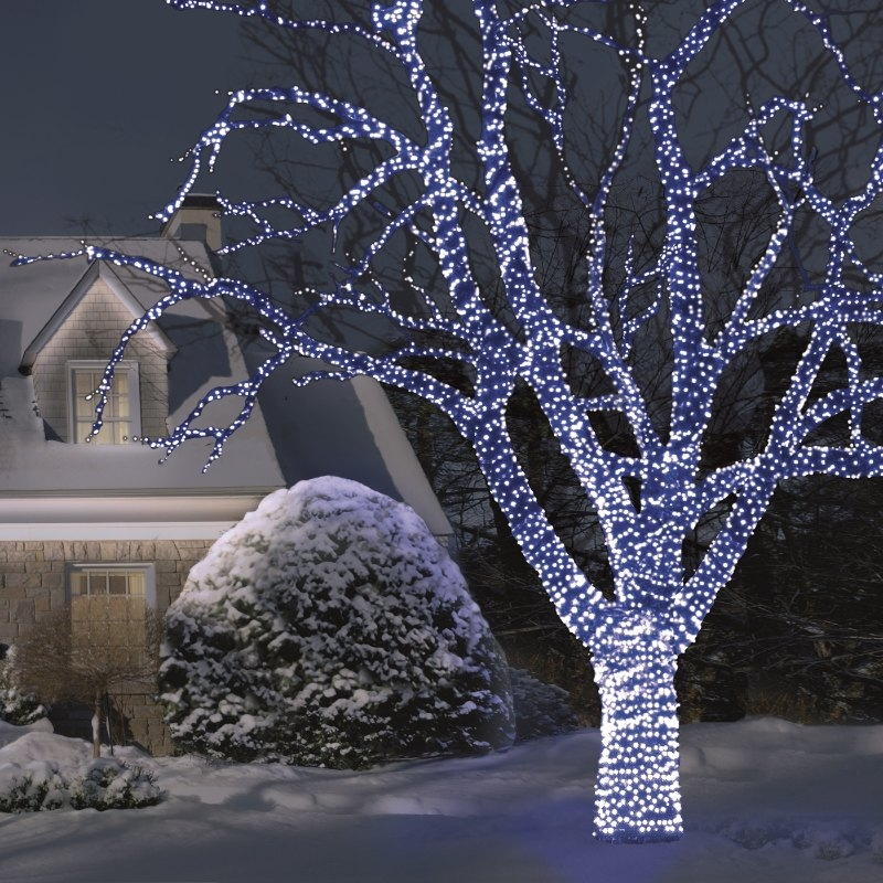 Snowtime 100 Straight Line Electric Blue Connectable LEDS