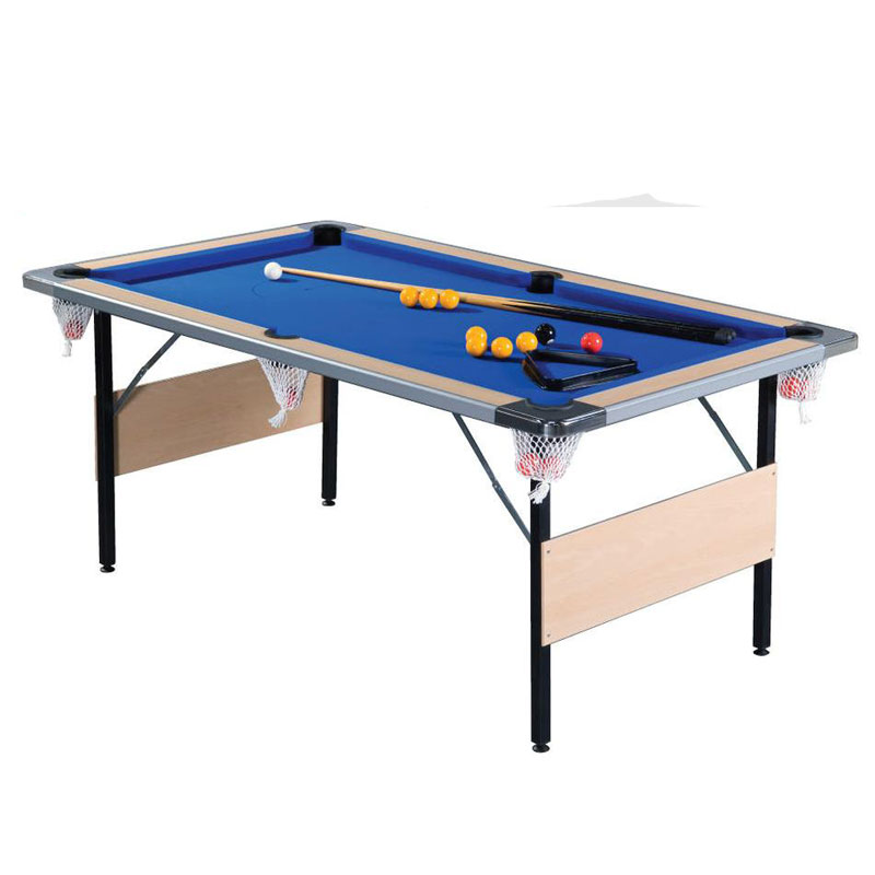 Supreme Deluxe Foldaway 7ft Pool Table (Beech)