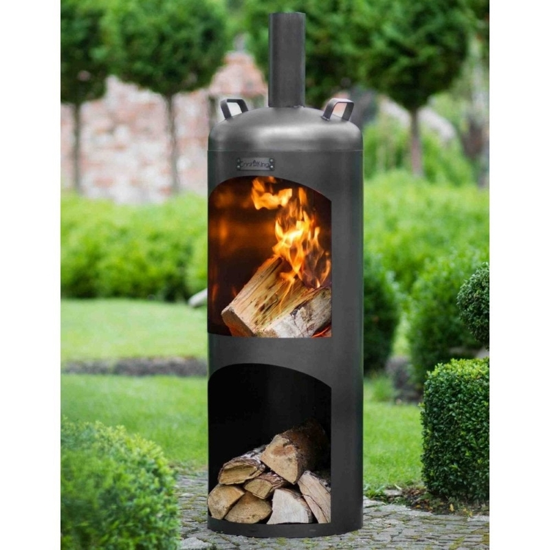 Fireplaces & Heaters (Stoves) Cook King Faro Wood Burning Garden Stove