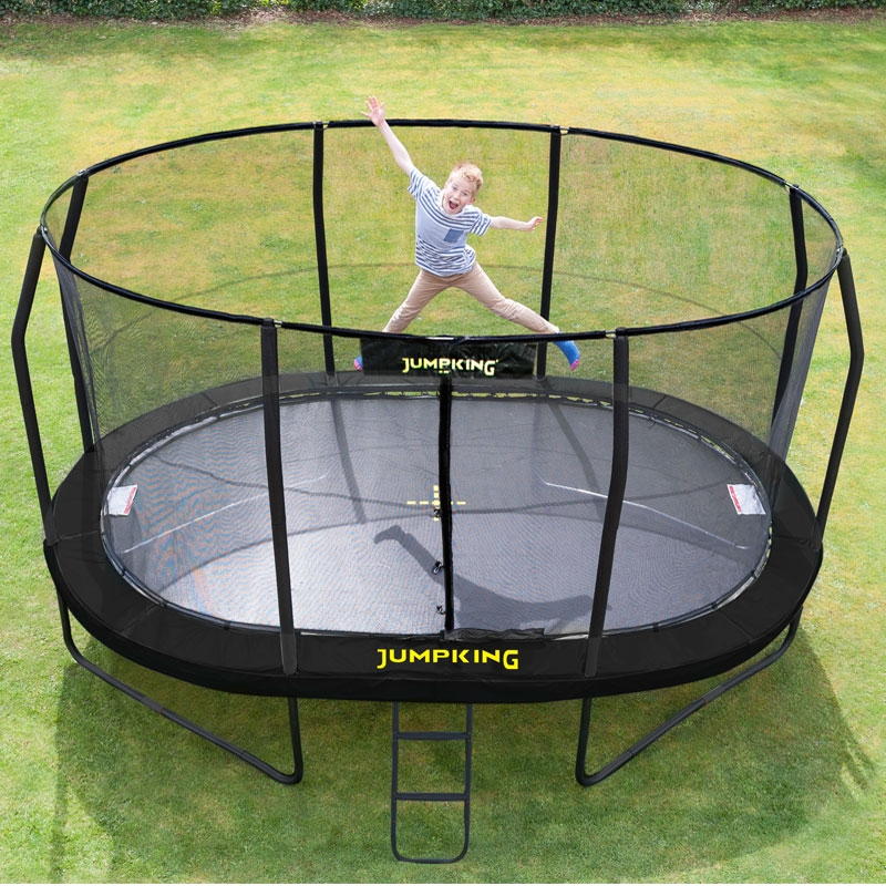 Trampoline Net For 17ft X 15ft Oval: Jumpking 10ft X 15ft Oval Trampoline 2016 Model, All Round Fun