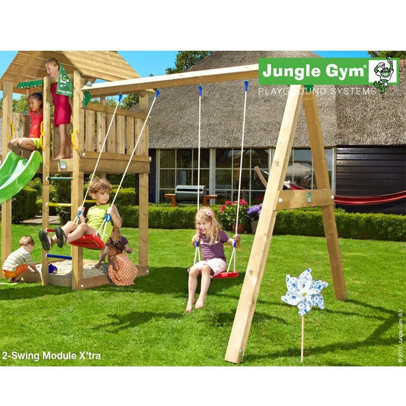 jungle gym swing module xtra timber *swings included*