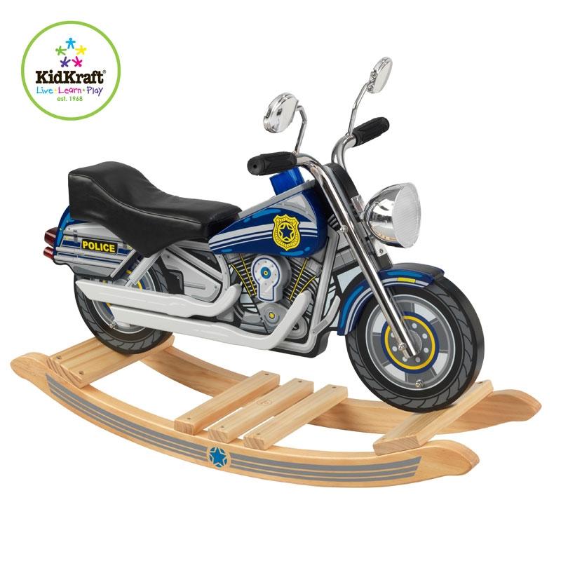 kidkraft rockin police motorcycle
