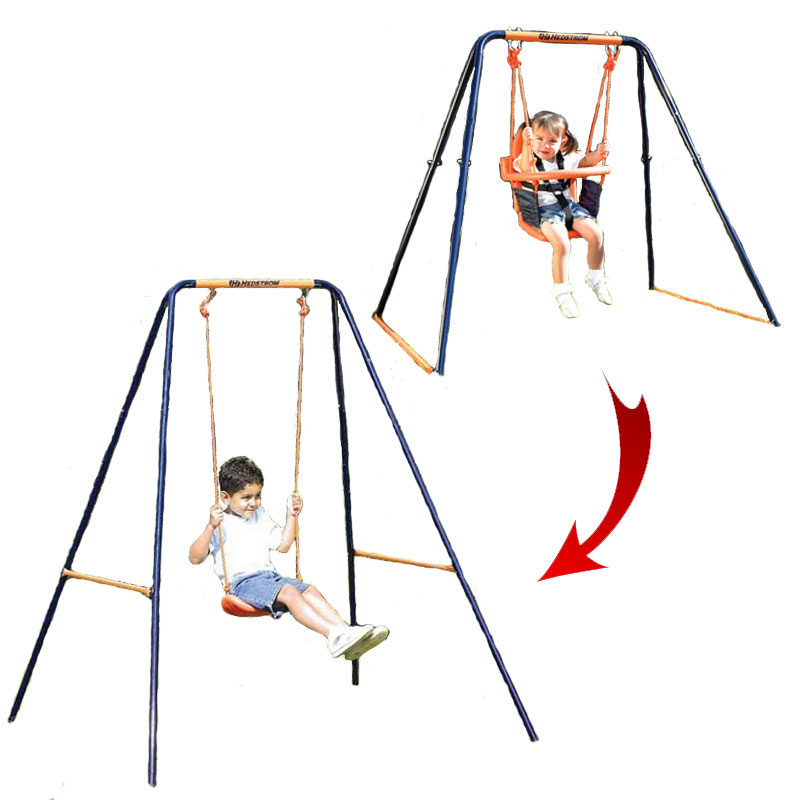 Hedstrom Deluxe 2 In 1 Swing All Round Fun
