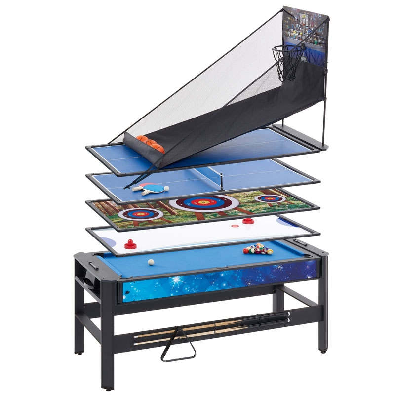 mightymast pentagon 6ft 5in1 multigames table