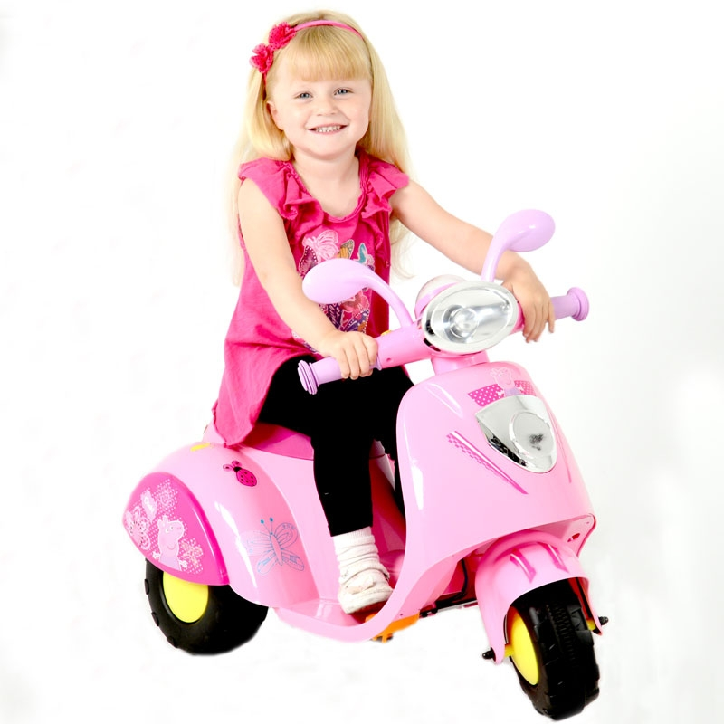 peppa pig 6v battery powered motorbike