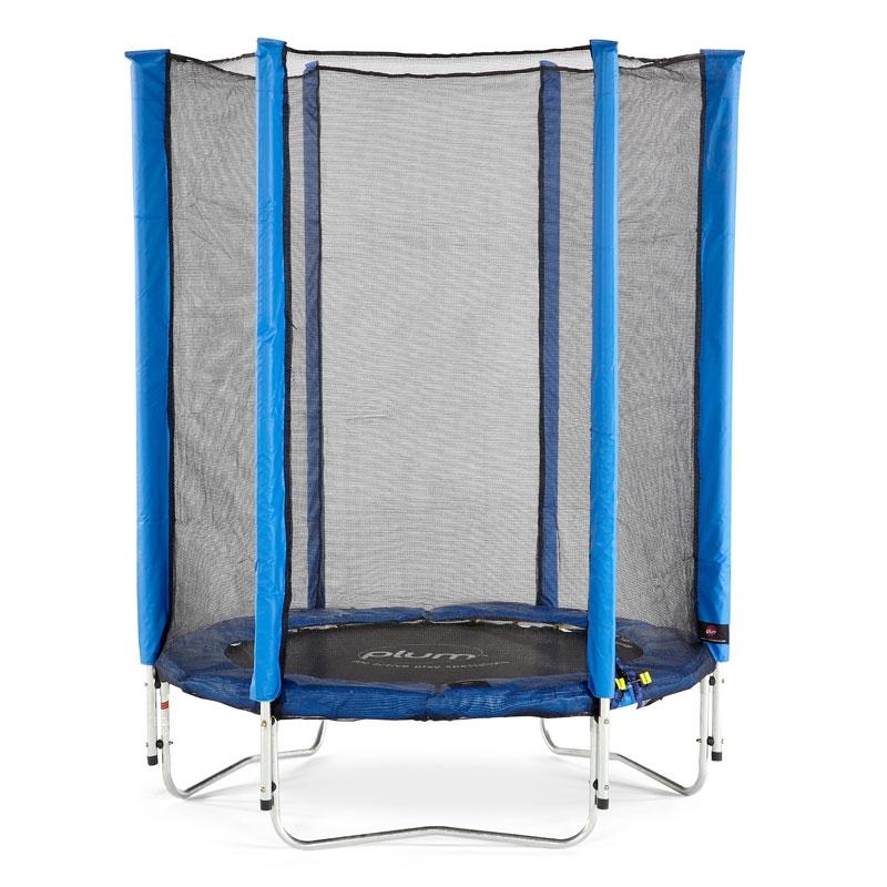 Plum 45ft Junior Trampoline And Enclosure Blue