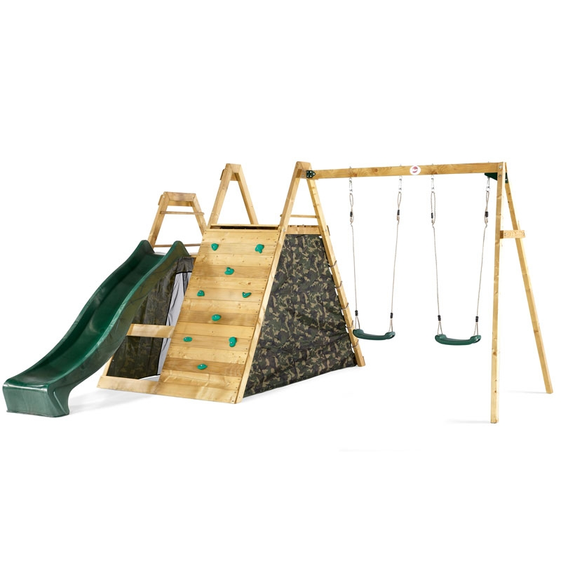 Plum Climbing Pyramid Wooden Climbing Frame With Swings All Round Fun