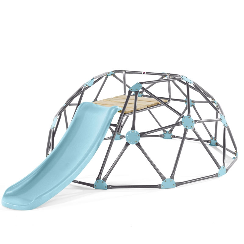 Plum Large Climbing Dome With Slide Blue All Round Fun