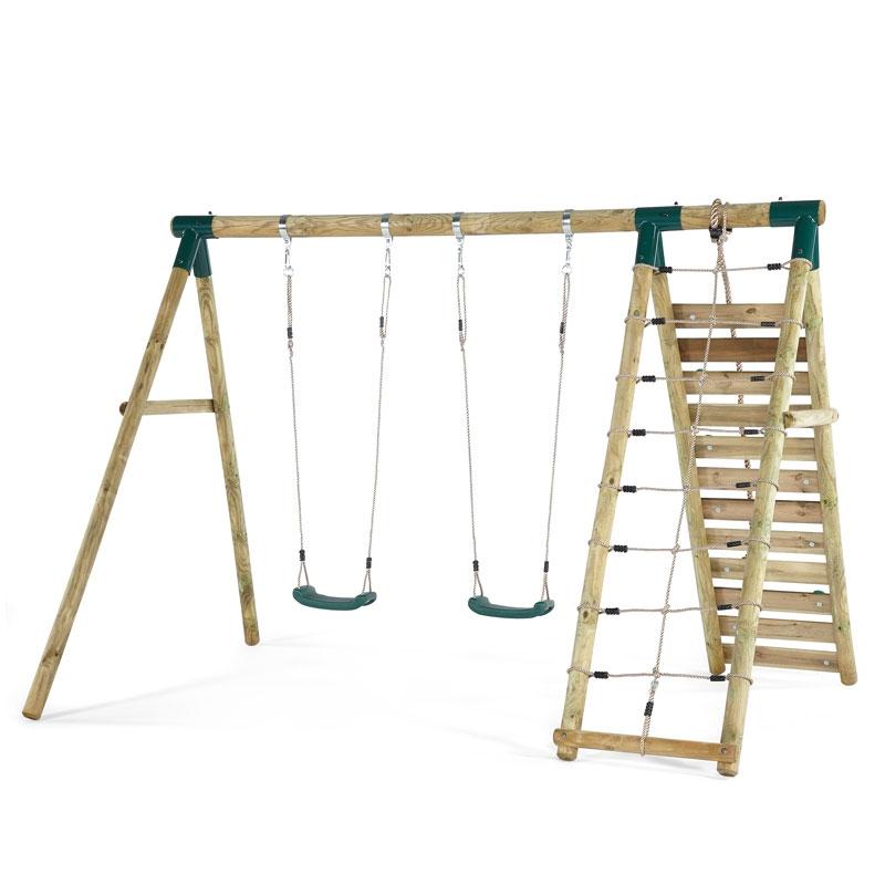 Plum Uakari Wooden Swing Set Plum Uakari All Round Fun